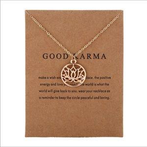 Jewelry - Good karma lotus flower necklace